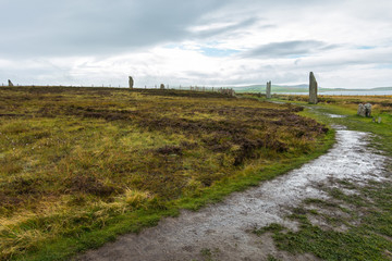 The Neolithic site Ring of Brodgar, Orkney Islands, Scotland, Britain
