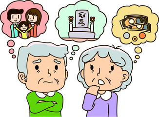Anxiety of old age,Tomb,Money,Family