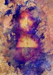 Saviour of the world. Salvador mundi. My own reproduction of Leonardo DaVinci painting. Marble effect.