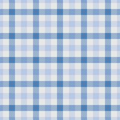 Tartan Vector Seamless Patterns, Dark Blue And Light Blue
