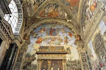Innenansicht, Basilika Santa Maria sopra Minerva, Rom, Italien, Europa