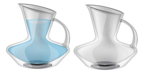 Glassware, jug. Decorative household items