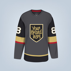 Vector illustration of hockey team jersey template