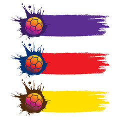 colorful football world cup banner design