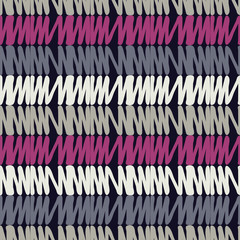 Seamless geometric pattern. Texture of stripes and squiggles. Scribble texture. Textile rapport.
