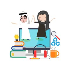Arabic school illustration design