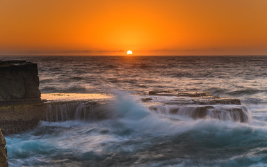 Sun Rising Seascape