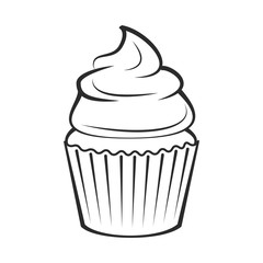Cupcake.  Illustration Isolated On White