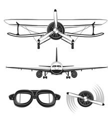 Aircraft Labels set.  Illustration