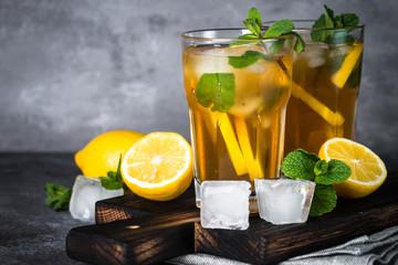 Iced tea. Cold summer drink.