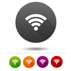 Wireless Network icon. Wifi symbol sign. Web Button.