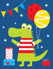 cute crocodile birthday party