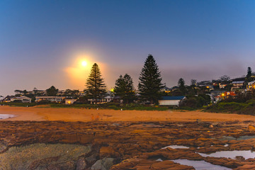 Glowing Blue Moon at North Avoca
