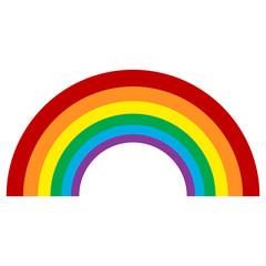 Rainbow icon flat. Color Rainbow Vector Illustration element
