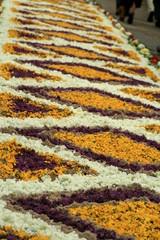 dywany z kwiatów