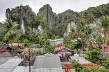 Part of El Nido City, Palawan Island, Philippines