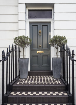 Traditional Door to 18th Century London Georgian Town House