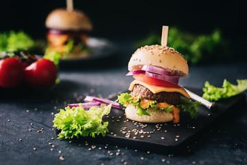 Veggie Burger frisch zubereitet