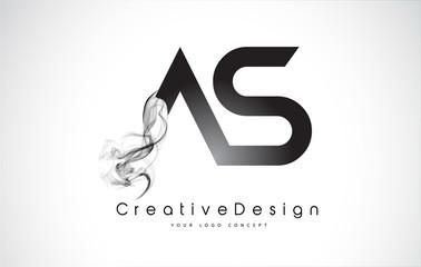 AS Letter Logo Design. Creative Icon Modern Letters Vector Logo.