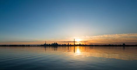 City skyline and seascape