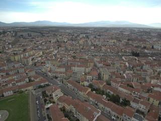 Perpiñán,ciudad de Francia fronteriza con España y bañada por el Mediterráneo. Fue la capital del Reino de Mallorca durante el s. XIII Fotografia aerea con Drone