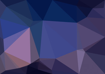 Abstract dark blue polygonal texture background. Geometric pattern for graphic design. Can be used as gradient or wallpaper.