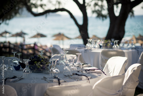 Crystal Clear Glasses Shimmer In The Sunlight Awaiting Guests At