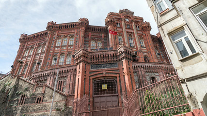 Exterior view of the Phanar Greek Orthodox Collage in Balat, Istanbul, Turkey