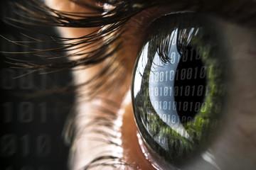 Hacker Auge - fototapety na wymiar