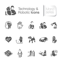 Technology & robotic related icons.