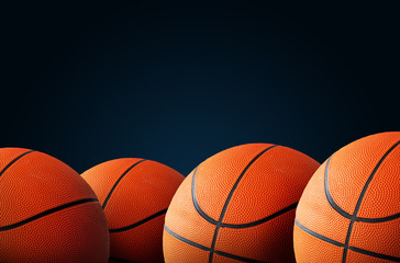 Basketball background with copy space