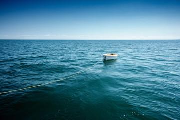 Small boat on sea