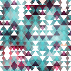 Blue triangle seamless pattern