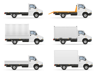 small truck van lorry for transportation of cargo goods stock vector illustration