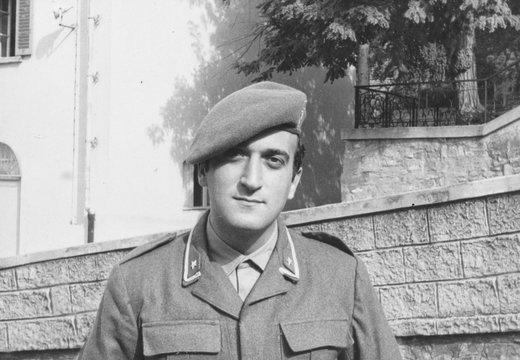 Portrait of young soldier in 1970