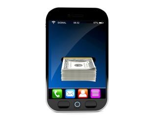 Smart phone with money