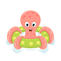 Octopus on inflatable circle