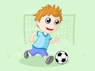 Kleiner Fußballjunge