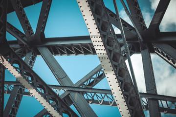 Fototapeten Bridges Bridge frame closeup