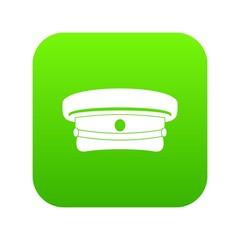 Military hat icon digital green