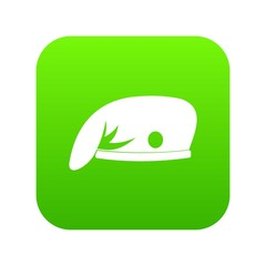 Military cap icon digital green