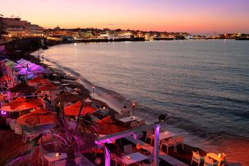Les restaurants le soir à Hersonissos en Crète