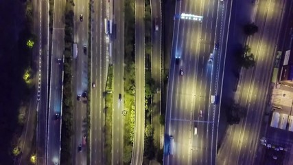 Cartel - Hong Kong highway at night from drone view