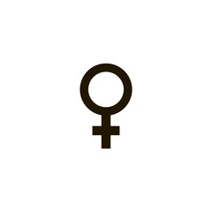 Female gender symbol icon. flat design