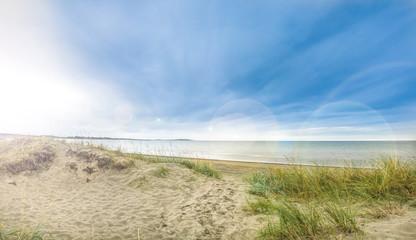 Sommerlicher Strand an der Ostsee