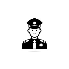 Police officer avatar icon.