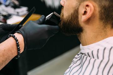 a man in a hair salon