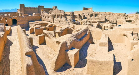Housing in ancient Rayen fortress, Iran