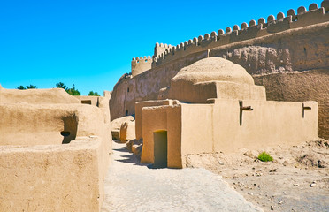 Sport club in ancient citadel, Rayen, Iran