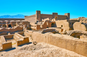 The citadel in desert of Kerman province, Iran